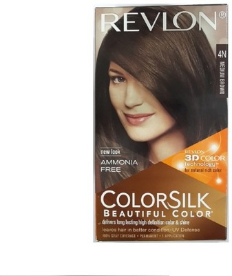 Revlon Colorsilk Hair Color With 3D Color Technology 4N Hair Color