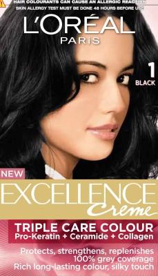 L,Oreal Paris Excellence Cream Hair Color(Black - 1)