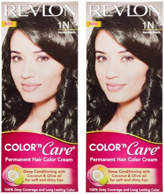 Revlon Combo of N Care-Natural Black 1N Hair Color(Black)