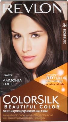 Revlon Colorsilk With 3D Technology Hair Color(Brown Black 2N)