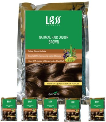 Lass Naturals Pack Of 6 Brown Hair Color