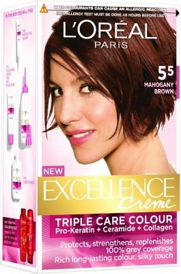 L,Oreal Paris Excellence Creme Hair Color(Mahagony Brown - 5.5)