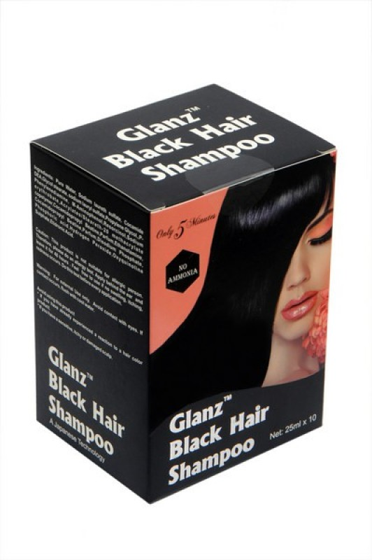 Glanz Shampoo Hair Color(Black)