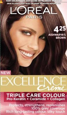 L,Oreal Paris Excellence Creme Hair Color(Aishwarya's Brown - 425)
