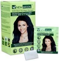 New Moon (Pack of 20 pcs 15 ml) Noni magic shampoo Hair Color(Black)