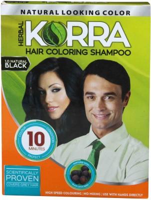 Korra Coloring Shampoo Black Pack of 10