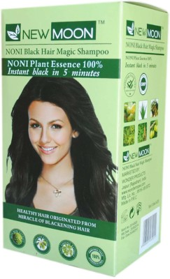 New Moon Noni Shampoo For Grey Hair 20 Sachet Color Hair Color(Natural Black)