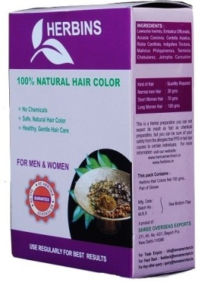 Herbins Herbal Henna Powder Hair Color