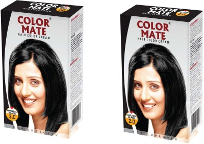 Color Mate Cream Hair Color(Natural Black)