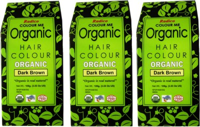 Radico Certified Organic- Dark Brown( Set Of 3 Boxes ) Hair Color