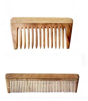 Ginni Marketing Neem Wood Baby or Pocket Comb (Lengths 10.5cm & 12.9 cm)