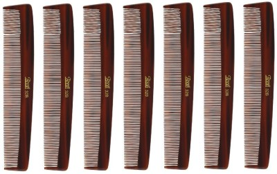 Roots Brown Fine Teeth Comb for Fine long Straight Hair - Pack of 7