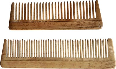 Ginni Marketing Neem Wood Baby/Pocket Comb (Lengths 10.2 and 12.9 cm)