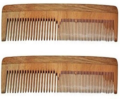 Majik 100% Neem Wood Comb set of 2