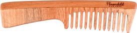 Flowerchild Handcrafted Neemwood - Anti static, Anti Dandruff and Eco-friendly - Handle comb:Fine Bristles (195mm*45mm)