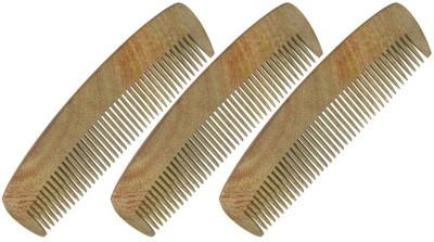 Prakrita Handicraft Pocket Comb For Man Made of Neem Wood (Pack of 3)