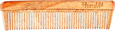 Flowerchild Handcrafted neemwood anti static Anti Dandruff, Non-Static and Eco-friendly - Dress Comb (155 mm*40mm)