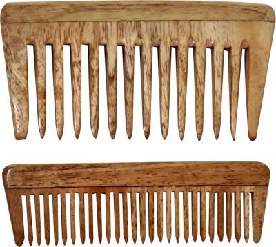 Ginni Marketing Ginni Neem Wood Baby/Pocket Comb (Lengths 10.2 & 10.5 cm each)