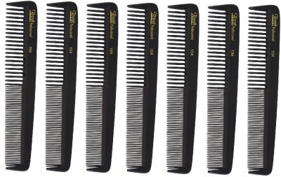 Roots Professional Cutting Combs - Black - Pack of 7