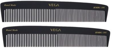 Vega Graduated Black Dressing Comb HMBC-101 (Set of 2)