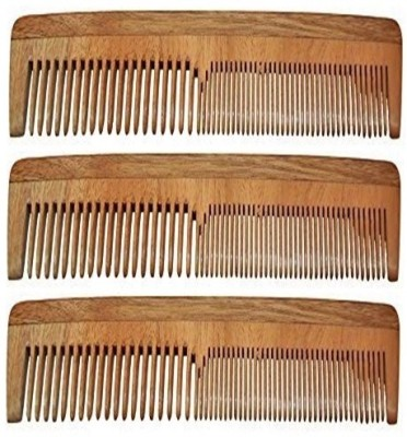 Majik 100% Neem Wood Comb set of 3
