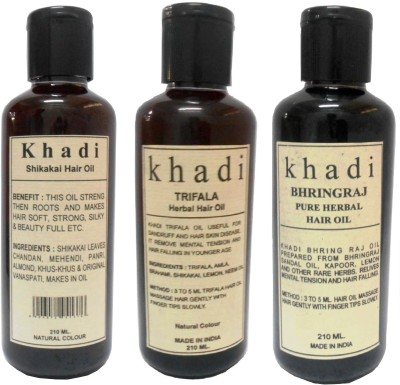 Khadi Herbal Hair Oils Combo Pack of 3