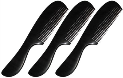 Prakrita Handicraft Stylish Pocket Comb For Man Made of Buffalo Horn (Pack of 3)