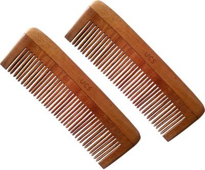 UCS Uncommon Stuffs Baby Neem Wood Comb (Set Of 2 Combs)