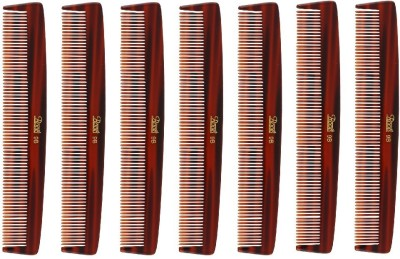 Roots Brown Fine Teeth Comb Best for Short Straight Hair - Pack of 7