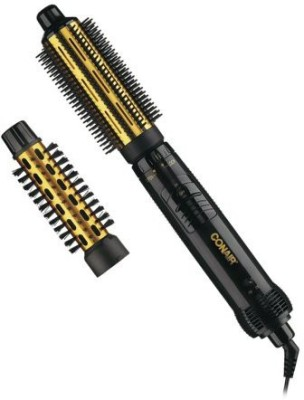 Conair Supreme 2-in-1 Hot Air Styling Brush, Black and Gold Hair Curler
