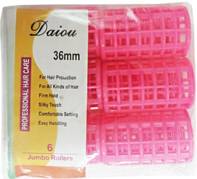 Daiou Jumbo Rollers 36mm Hair Curler(Pink)