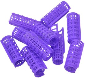 Liqon 10 Pcs Plastic Rollers and Stylers BC1008 - Large (Size:25mm) Hair Curler(Assorted)