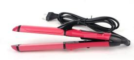 KASCN ORIGINAL ROLER TYPE 2 IN 1 HAIR BEAUTY SET CURLER AND STRAIGHTENER Hair Curler(Pink)