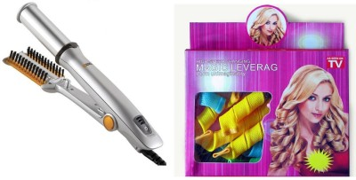 Hairinstyler Instyler Rotating Hot Iron Magic Leverag Machine Care Device Plus Wavz Plastic Stick Curl Styler With Cool Touch And Ionic Bristles Hair Curler
