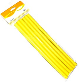 Beauty of Life 6 Curl Maker Soft Foam Bendy Rollers Yellow Hair Curler