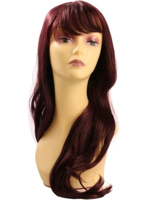 Wig-O-Mania Tess Japanese Fibre Long Wig Brown Burgandy Mix Hair Extension