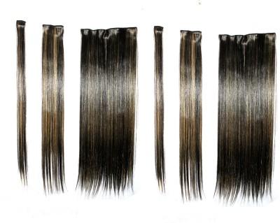 Ritzkart 6pc multi strait extension silky &natural highlighting Hair Extension
