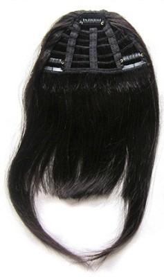 Majik Clip in Human  Fringe or  Bang Black Hair Extension