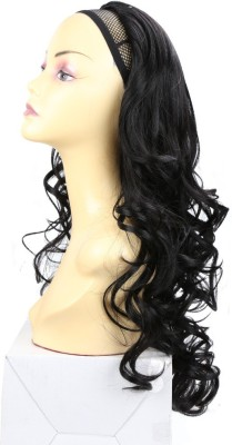 Wig-O-Mania Christina 3/4 Stylish Wig in High Heat Japanese Fibre Natural Black Hair Extension