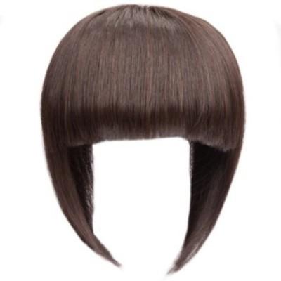 Majik Clip in Human  Fringe or Bang Dark Brown Hair Extension