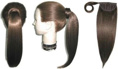 Wig-O-Mania Jess Wrap Around Pony Tail HiHt Fibre Long  Piece Brown Hair Extension