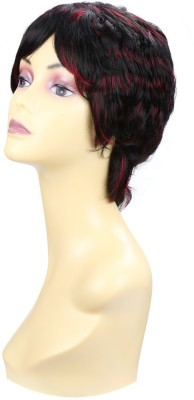 Wig-O-Mania Pippa Japanese Fibre Wig Natural Black with Auburn Hair Extension