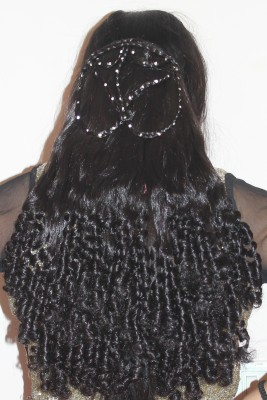 Ritzkart Stone Studded Curly PARTY Clip-on  Extension Hair Extension