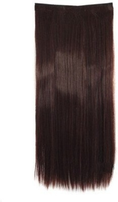 Gimmick Clip on off Fake  Extension 22 200 gm Brown 22 inch Hair Extension