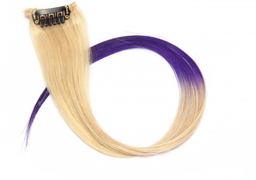 Krome Neon Ombré Violet, Double Coloured Highlights, 12