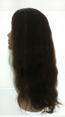 Wig-O-Mania Chelsea Human  Long Mono Dark Brown with Chesnut Mix Hair Extension at flipkart