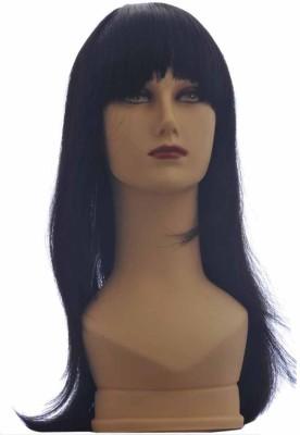 Wig-O-Mania Ruchita Long Stylish Fringe Syn Wig Black Hair Extension at flipkart