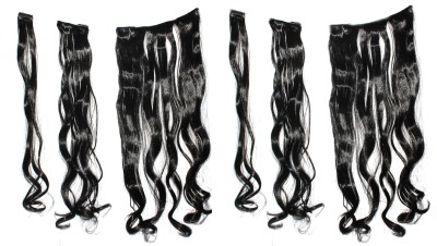 Ritzkart 6pc multi Curly  Hair Extension