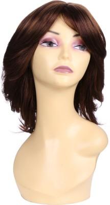 Wig-O-Mania Mindy Japanese Fibre Medium Wig Dark Burgandy-Titan Gold mix Hair Extension
