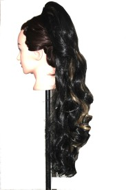 Ritzkart back poni tail mix dark brown golden mix 24 inch Hair Extension